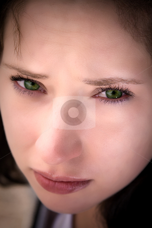 Beautiful Teenager stock photo, Close up on a Beautiful Teenager Sitting on an Old Abandoned Train by Mehmet Dilsiz