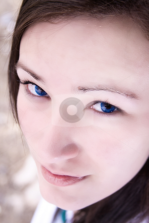 Close up on a Teenage Girl stock photo, Extreme Close up on a Teenage Girl by Mehmet Dilsiz