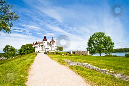Old castle stock photo, Old swedish castle in white lime by Fredrik Elfdahl