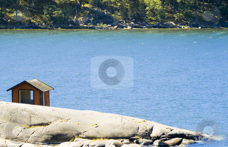 Cabin stock photo, Small cabin by the sea by Fredrik Elfdahl