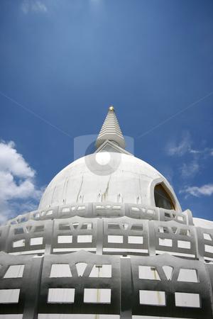 Peace stupa stock photo, Peace stupa roof by Istv??n Cs??k