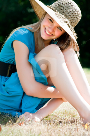 Happy lifestyle girl stock photo, Teenage girl in fresh and happy mood outside in the park by Frenk and Danielle Kaufmann