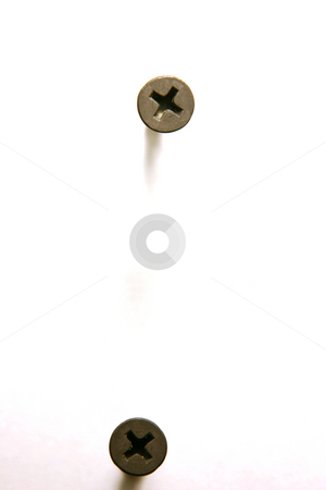 Top View for Screws stock photo, Top View for Two Screws by Mehmet Dilsiz