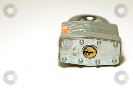 Up Close Padlock stock photo, Close up shot on a padlock by Mehmet Dilsiz