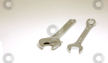 Cousin Wrenches stock photo, Two types of wrenches by Mehmet Dilsiz