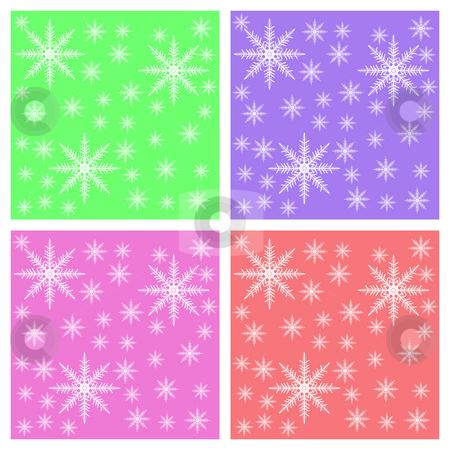 Snowflake background for Postcards stock photo, Multi color Snowflake background for Postcards by Mehmet Dilsiz