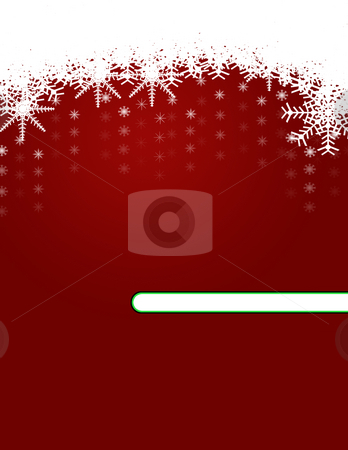 Christmas Background with Ornaments stock photo, Christmas Background with Ornaments and Snowflakes by Mehmet Dilsiz