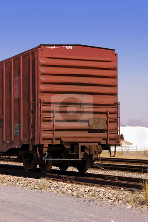 Old Wagon stock photo, Old Wagon with Salt Pile and Clear Skies on the Background by Mehmet Dilsiz