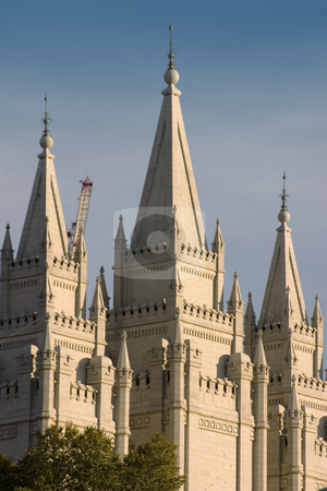Mormon Temple in Salt Lake City stock photo, Mormon Temple in Salt Lake City, Utah by Mehmet Dilsiz