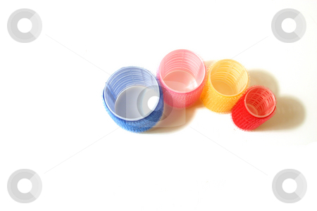 Four Velcro Hair Curlers stock photo, Four Velcro Hair Curlers - Isolated by Mehmet Dilsiz