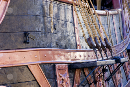 Close up on a Pirate Ship stock photo, Close up on a Pirate Ship in Las Vegas by Mehmet Dilsiz