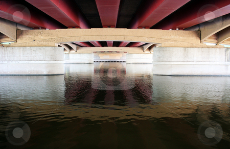 Underneath stock photo, Bridge is located in Wichita, Kansas by Margaret Roew