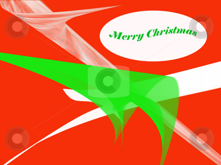 Christmas Card stock photo, Red green and white Christmas Card designed using photoshop by CHERYL LAFOND