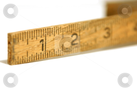 Close Up on an Old Measuring Tape / Ruler stock photo, Close up shot on a vintage measuring tape / ruler by Mehmet Dilsiz