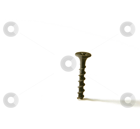 Single Screw stock photo, Single Screw - by itself by Mehmet Dilsiz