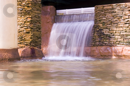 Indoors Waterfall stock photo, Small Waterfall Indoors by Mehmet Dilsiz