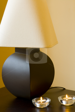 Lamp and Candles stock photo, Close up on a Lamp and Candles by Mehmet Dilsiz