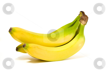 Isolated Banana stock photo, Close up on a Group Isolated Banana by Mehmet Dilsiz