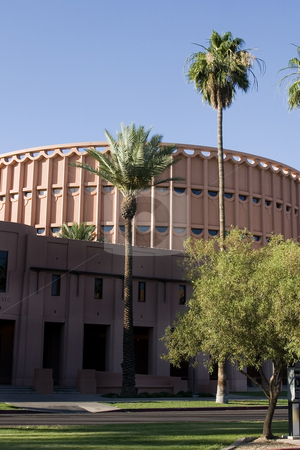 Football Stadium in Arizona stock photo, University Football Stadium in Arizona by Mehmet Dilsiz
