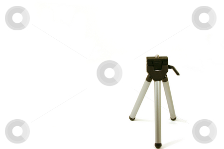 Mini Tripod  stock photo, Mini Tripod on a white background by Mehmet Dilsiz
