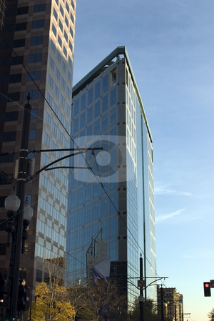Downtown Buildings stock photo, Triangular Downtown Buildings by Mehmet Dilsiz