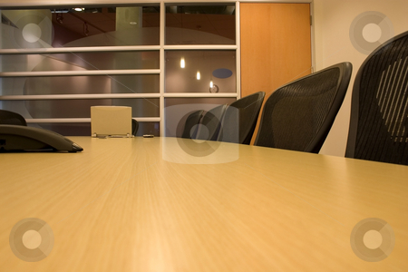 The Conference Room stock photo, Empty Conference Room by Mehmet Dilsiz