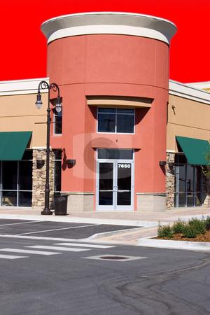 Strip Mall - Corner Store Restaurant stock photo, Strip Mall - Corner Store Restaurant by Mehmet Dilsiz