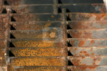 Up Close and Grill stock photo, Rusty Grill Background by Mehmet Dilsiz