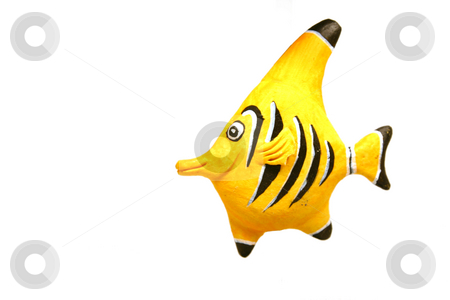 Yellow Fish - Decoration stock photo, Close up on a decoration - Yellow Fish by Mehmet Dilsiz