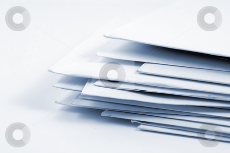 Stacked Mail  stock photo, Stacked Mail - Close up on Envelopes by Mehmet Dilsiz