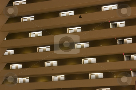 Luxor Pyramid Hotel Rooms - Abstract Inside stock photo, Hotel Room Doors Diagonally Lines inside the Pyramid Luxor in Las Vegas by Mehmet Dilsiz