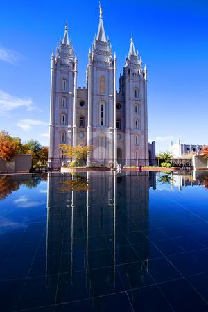Salt Lake City, UT: October 30 Mormon Temple in Salt Lake City,  stock photo, Salt Lake City, UT: October 30 Mormon Temple in Salt Lake City, Utah by Mehmet Dilsiz