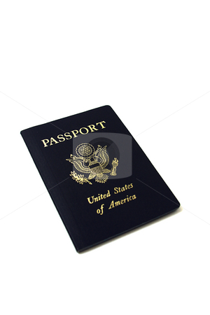 Isolated Passport stock photo, Isolated Unites States of America Passport by Mehmet Dilsiz