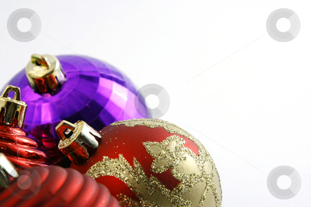 Christmas Ornaments with Copy Space for your text stock photo, Close up on Colorful Christmas Ornaments with Copy Space for your text by Mehmet Dilsiz