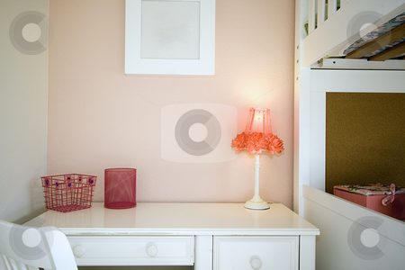 Close up on a Children Bedroom  stock photo, Close up on a kid's bedroom with desk and the bunk by Mehmet Dilsiz