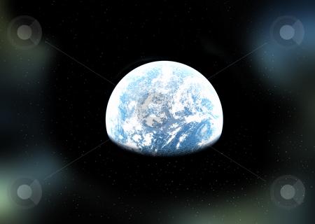 Alien World In Space stock photo, An alien world in deep space. by Chris Harvey