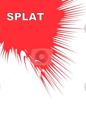 Splat  stock photo, A colour splat on a white background. by Chris Harvey