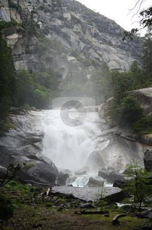 Misty falls stock photo,  by Brett Horne