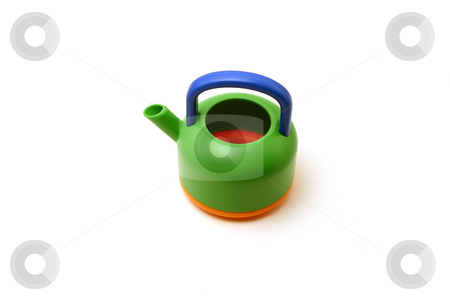 Toy Tea Pot stock photo, Isolated Toy Pot by Mehmet Dilsiz