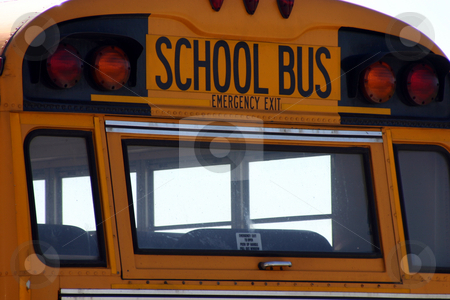 School Bus Sign stock photo, Close up on a school bus sign by Mehmet Dilsiz