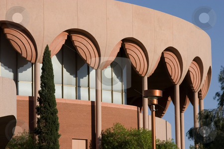 University Building stock photo, University Building with Columns and Arch Shaped Decoration by Mehmet Dilsiz