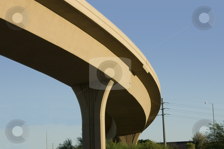 Bridge over the Highway stock photo, Close up on the curve of a Bridge over the Highway by Mehmet Dilsiz