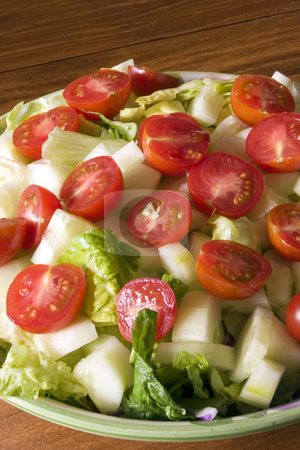 Bowl of Salad stock photo, Close up on a Bowl of Salad by Mehmet Dilsiz