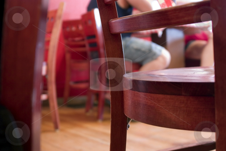Close Up on Restaurant Chairs stock photo, Close Up on Restaurant Chairs with Table Cloth by Mehmet Dilsiz