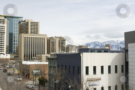 Downtown Salt Lake City  stock photo, View of Salt Lake City - Utah downtown by Mehmet Dilsiz