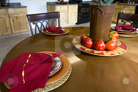 Close up on a Decorated Dinner Table stock photo, Decorated Setup Dinner Table by Mehmet Dilsiz