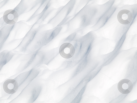Snow dunes stock photo, Snow dunes landscape on chilly winter by Laurent Dambies