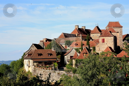 Loubressac, Lot, France stock photo, Loubressac, Lot, France, is a fortified hilltop village which is listed as one of the ???plus beaux villages??? / ??? most beautiful villages??? of France, which number 152 out of a possible 32000. by Gozzoli