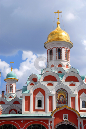 Church on Red Square in Moscow stock photo, Orthodox church Kazanskaya on Red Square in Moscow, Russia by Julija Sapic