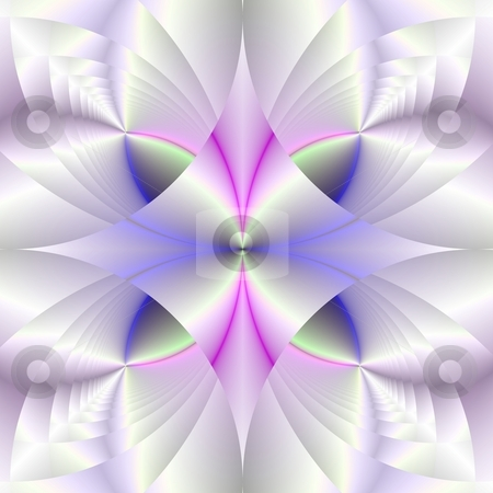 Diamond White stock photo, Computer generated fractal image with a geometric design in white and purple. by Colin Forrest